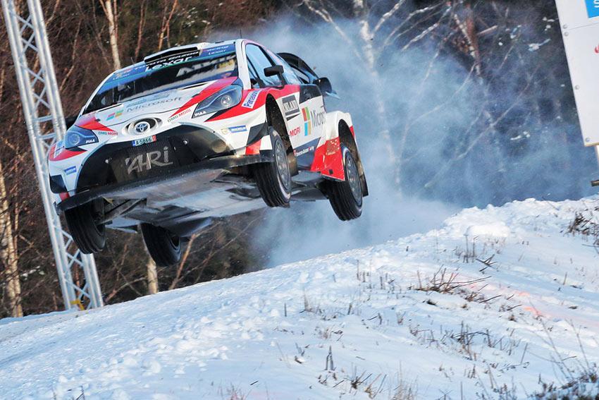 Toyota Yaris WRC ralli görüntüsü