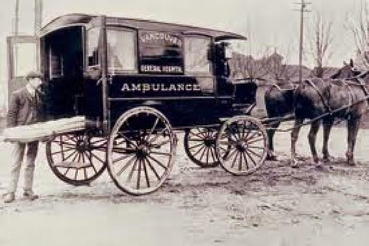 1800'lü yılların sonu atlı araba ambulans içten yanmalı otoblog